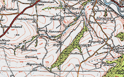 Old map of Hay in 1919