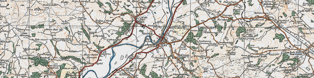 Old map of Wyecliff in 1919