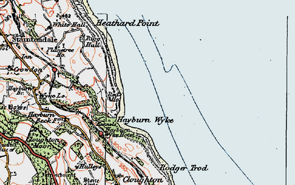 Old map of Hayburn Wyke in 1925