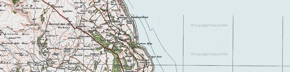 Old map of Hayburn Wyke in 1925