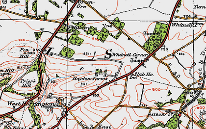 Old map of Whitnell Corner in 1919