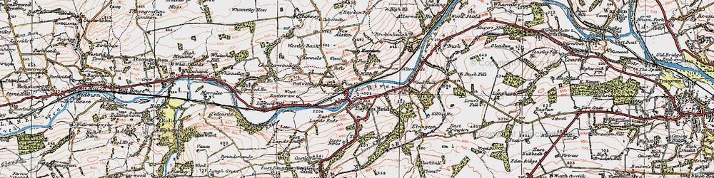 Old map of Haydon Bridge in 1925