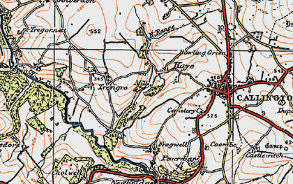 Old map of Haye Fm in 1919