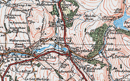 Old map of Hayfield in 1923