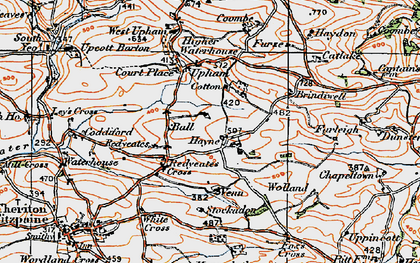 Old map of Stockadon in 1919