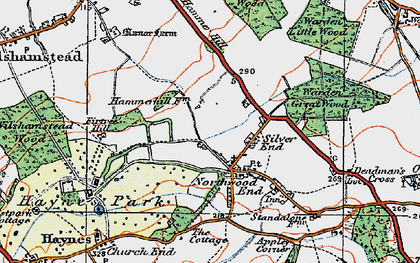 Old map of Haynes in 1919