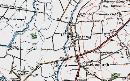 Old map of Tiln Holt in 1923