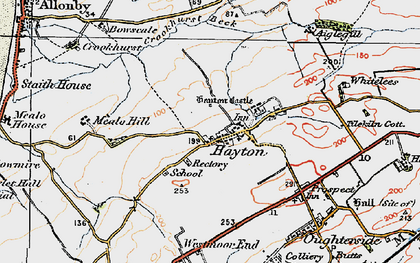 Old map of Hayton in 1925