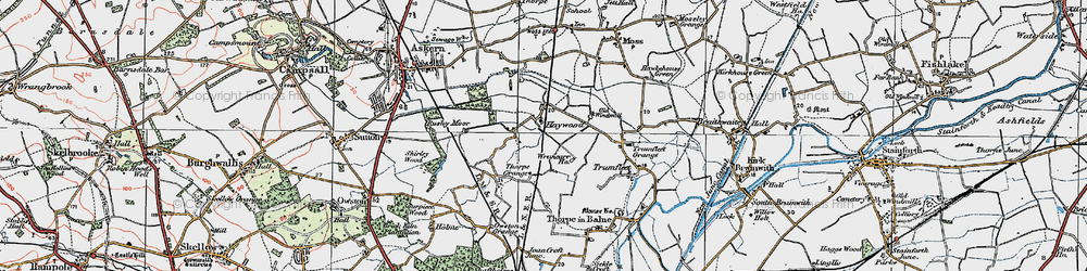 Old map of Wrancarr Ho in 1923