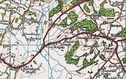 Old map of Ash Bourne in 1920