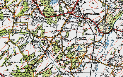 Old map of Lewes Heath in 1920