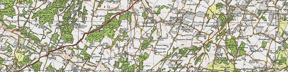 Old map of Admiral Wood in 1921