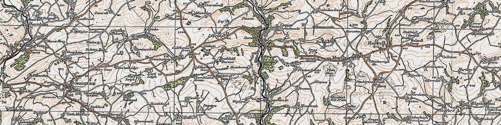 Old map of Wigford in 1919