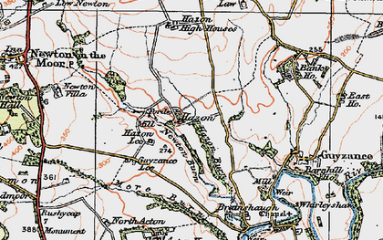 Old map of Bank Ho in 1925