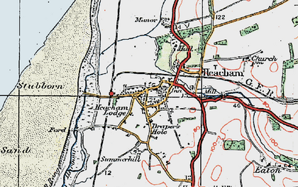 Old map of Heacham in 1922