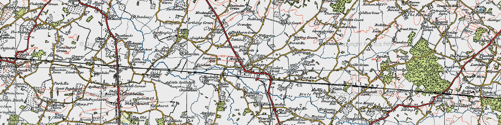 Old map of Tilden in 1921
