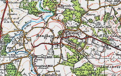 Old map of Headley in 1919