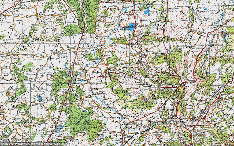 Old Map of Headley Down, 1919 in 1919