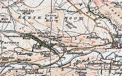 Old map of Healaugh in 1925