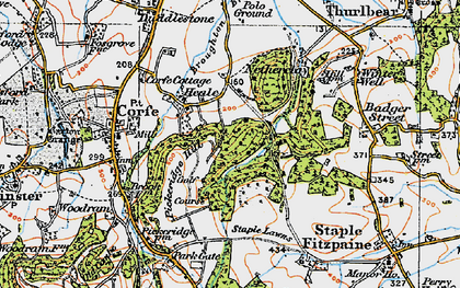 Old map of Lime Ridge Wood in 1919