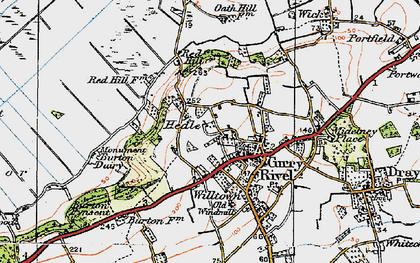 Old map of West Sedge Moor in 1919