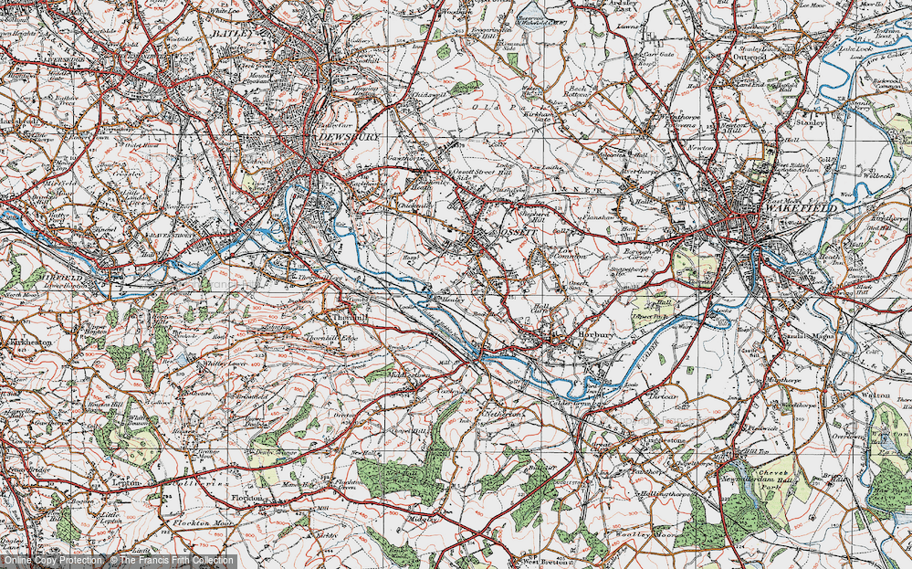 Old Map of Healey, 1925 in 1925