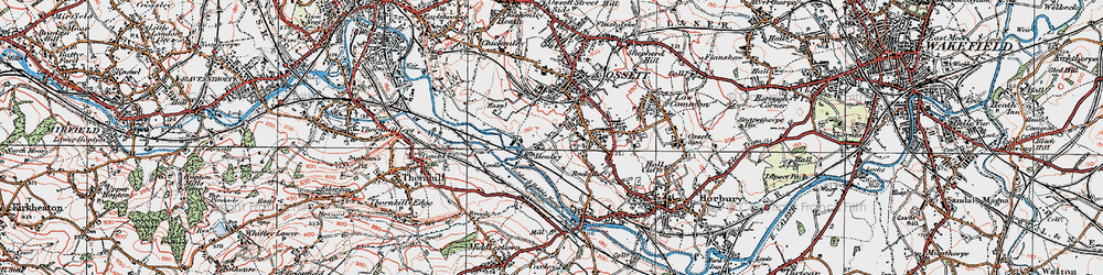 Old map of Healey in 1925