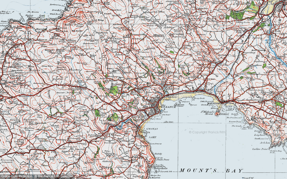 Old Map of Heamoor, 1919 in 1919
