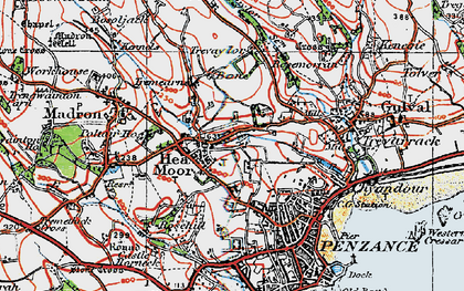 Old map of Heamoor in 1919