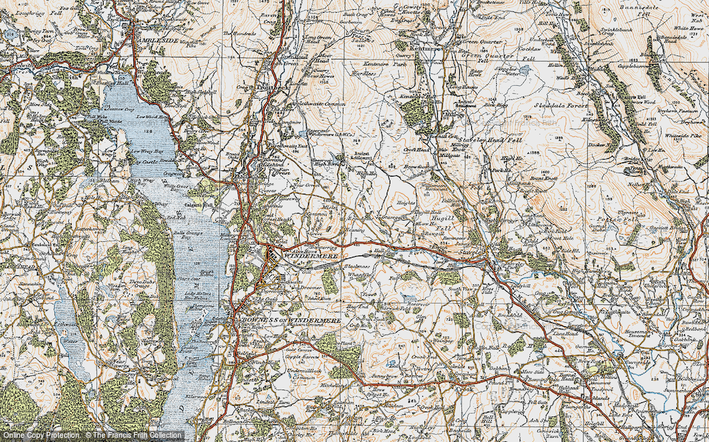 Old Map of Historic Map covering Banner Rigg in 1925