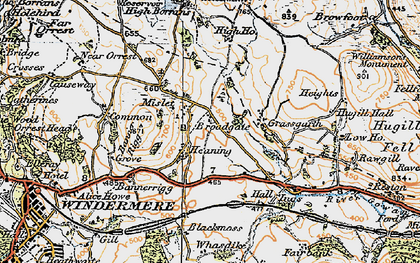 Old map of Banner Rigg in 1925