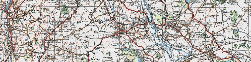 Old map of Heanor in 1921