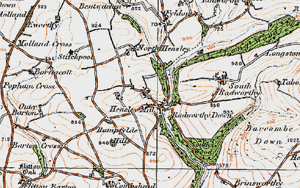 Old map of Bampfylde Hill in 1919