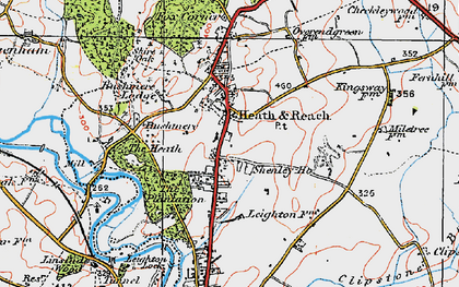 Old map of Heath and Reach in 1919