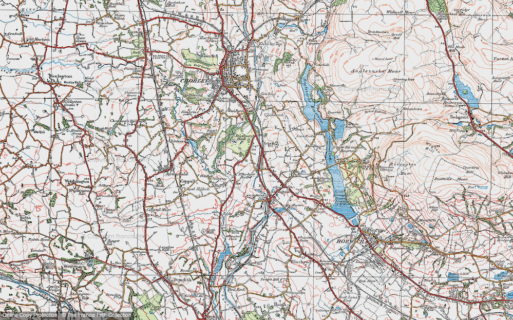Old Map of Heath Charnock, 1924 in 1924
