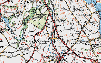 Old map of Heath Charnock in 1924