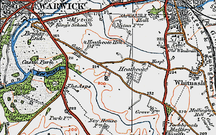 Old map of Asps, The in 1919