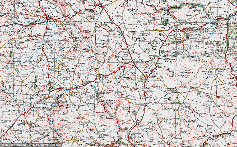 Old Map of Historic Map covering Lean Low in 1923