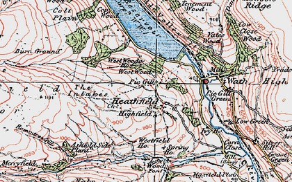 Old map of West Wood Ho in 1925