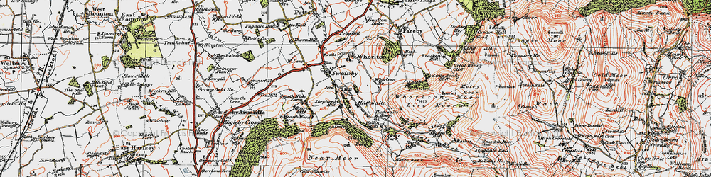Old map of Whorlton Ho in 1925