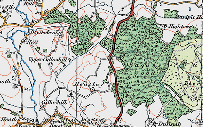 Old map of Bagot Forest in 1921