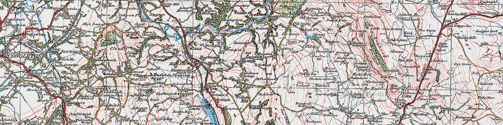 Old map of Willott's Hill in 1923