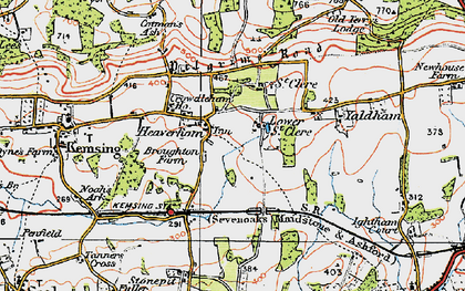 Old map of Yaldham Manor in 1920