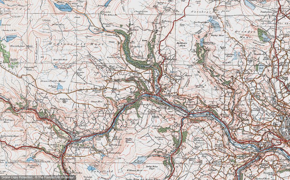 Hebden Bridge Map Map of Hebden Bridge, 1925   Francis Frith Hebden Bridge Map
