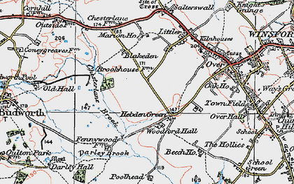 Old map of Woodford Hall in 1923