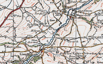 Old map of Hebron in 1922