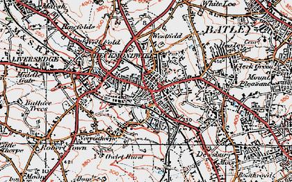 Old map of Heckmondwike in 1925