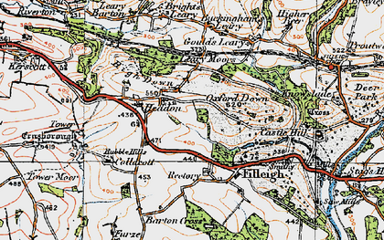 Old map of Leary Moors in 1919
