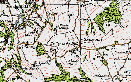 Old map of West Riding in 1925