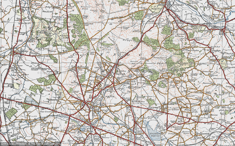 Old Map of Hednesford, 1921 in 1921